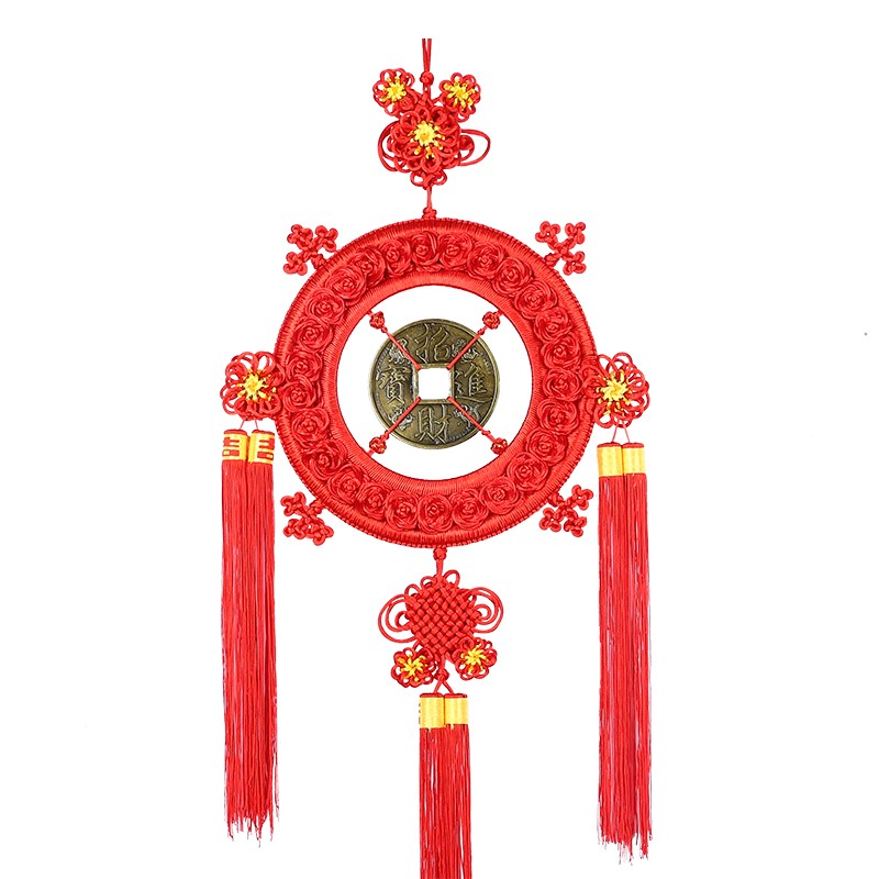 China Jiefu copper coin hand woven Pendant