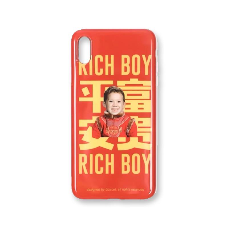 BIZZCUT别闹×假笑男孩平安富贵正版联名苹果手机壳