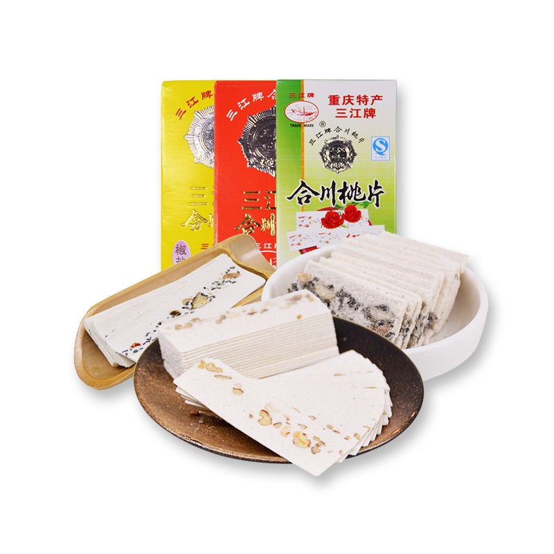 重庆特产 三江牌合川桃片 50g