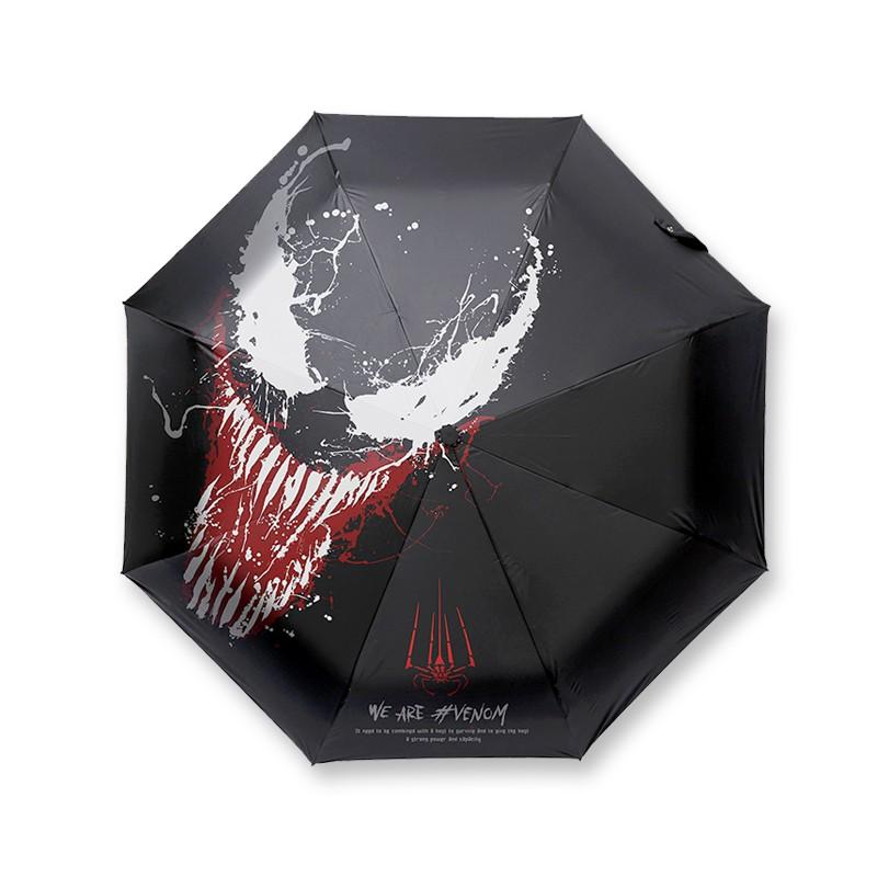 漫威电影周边 毒液晴雨伞 黑胶防晒