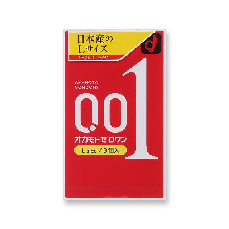 【日本直邮】日本OKAMOTO 冈本 001系列 超薄安全避孕套 L码 3个入