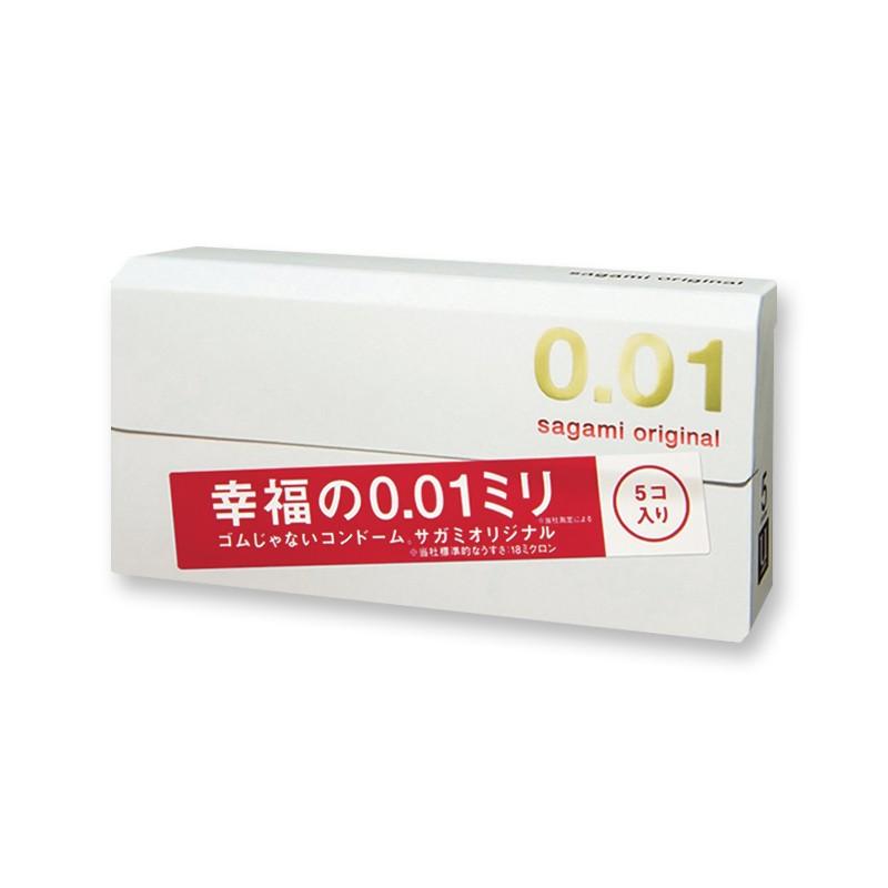 【日本直邮】日本SAGAMI 幸福001 超薄安全避孕套 5片入