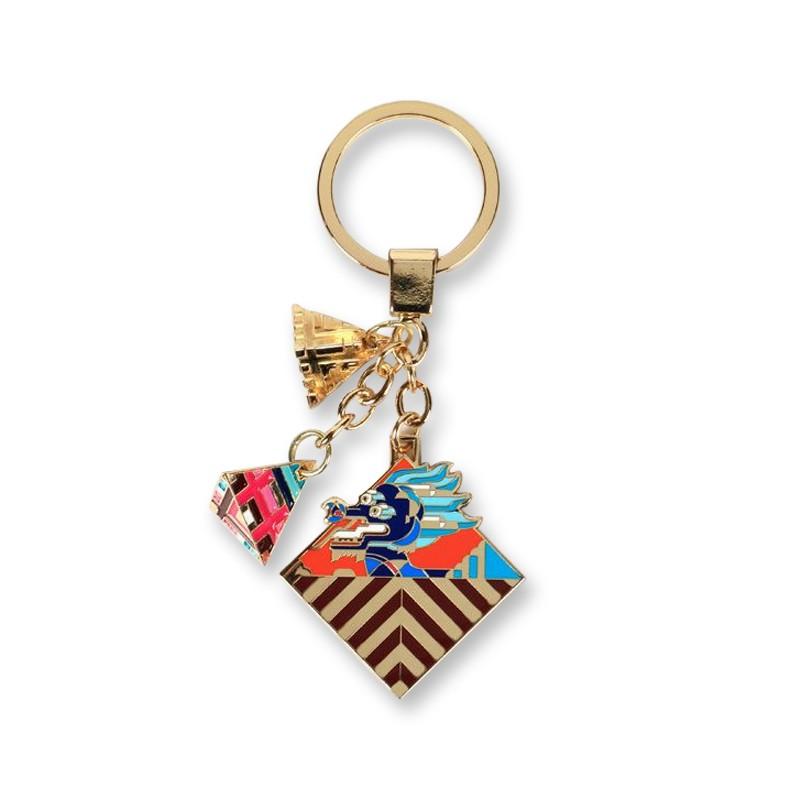 Imperial Palace Forbidden Dragon Key Chain Imitated Enamel Craft Key Chain