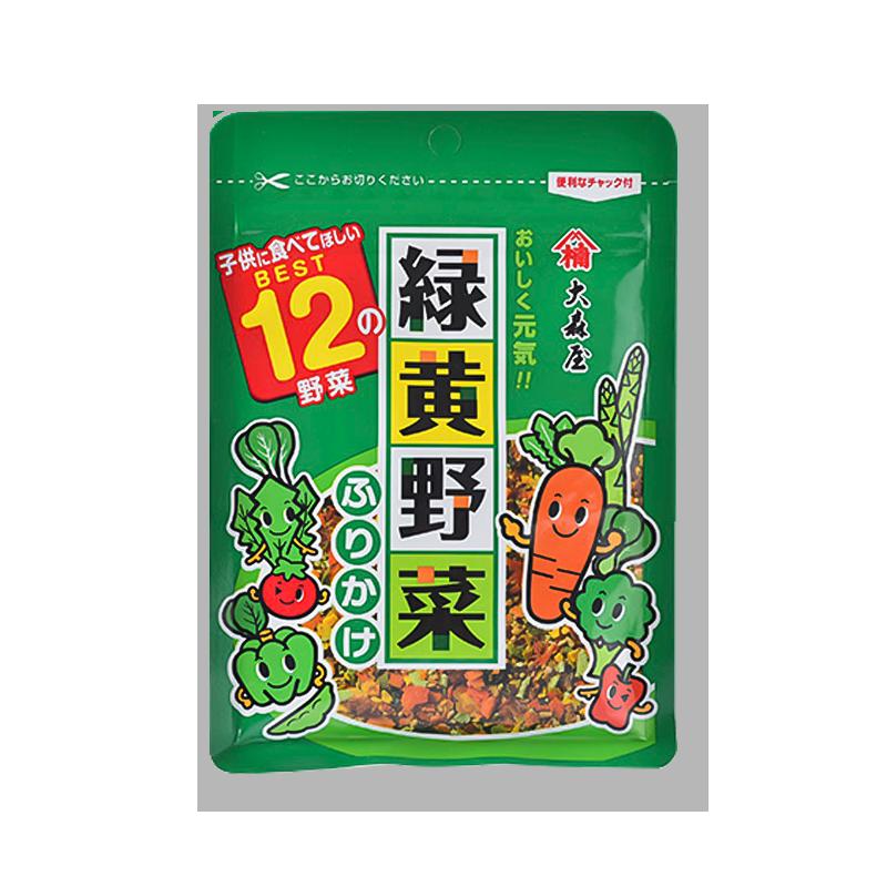 日本 大森屋 绿黄色蔬菜香松拌饭料 25g