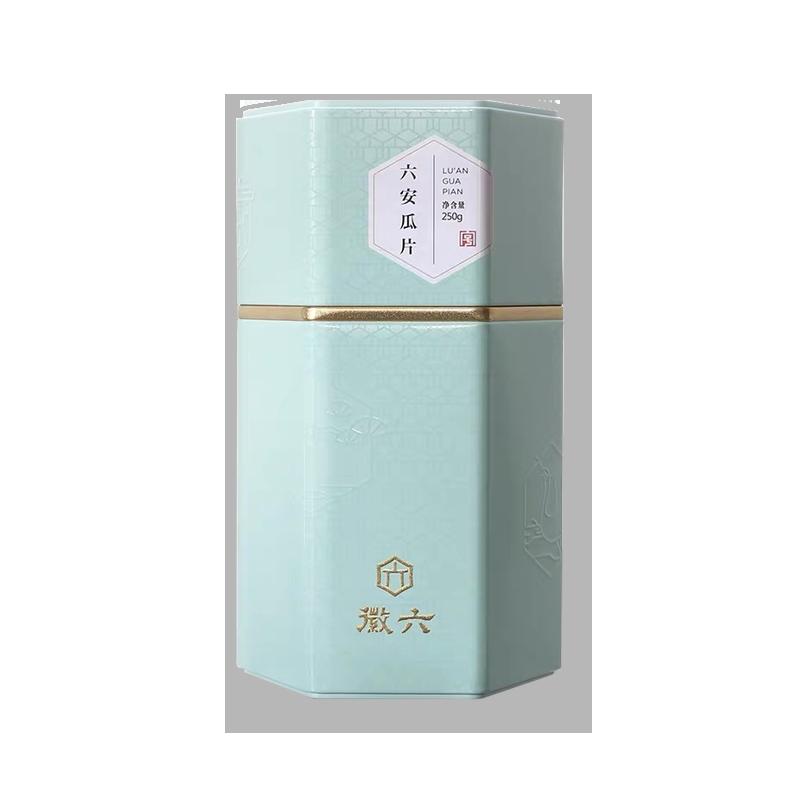 徽六 茶叶绿茶六安瓜片 春茶罐装 250g