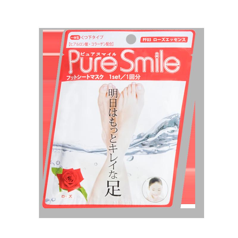 日本PURE SMILE 玫瑰足膜 身体护理系列 1件入