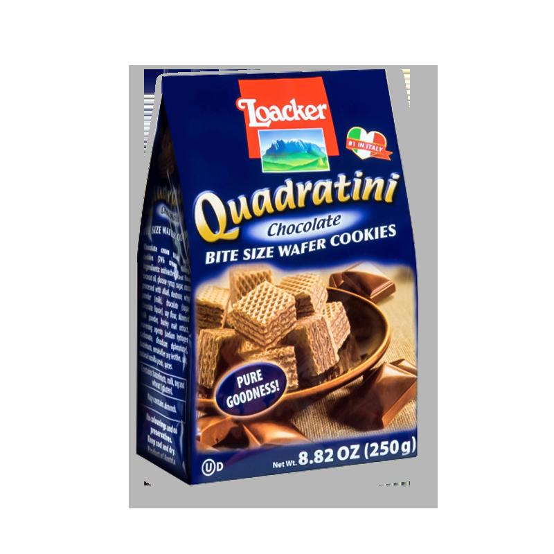 意大利LOACKER莱家 QUADRATINI 威化小饼干 巧克力味 250g