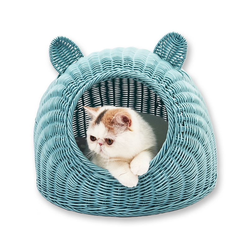 All Seasons General Purpose Closed Pet Cave Net Red Cat Cave Summer Cat Cave Supplies for Rattan Cat Cave