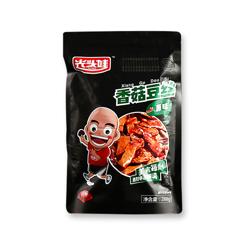 光头娃 香菇豆丝手撕豆干 豆腐干小包装 288g