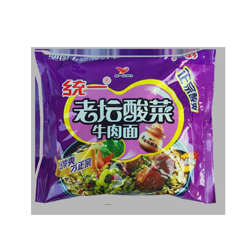 Taiwan Unification Satisfaction 100 Laotan Sauerkraut Beef Noodle Bag 119g