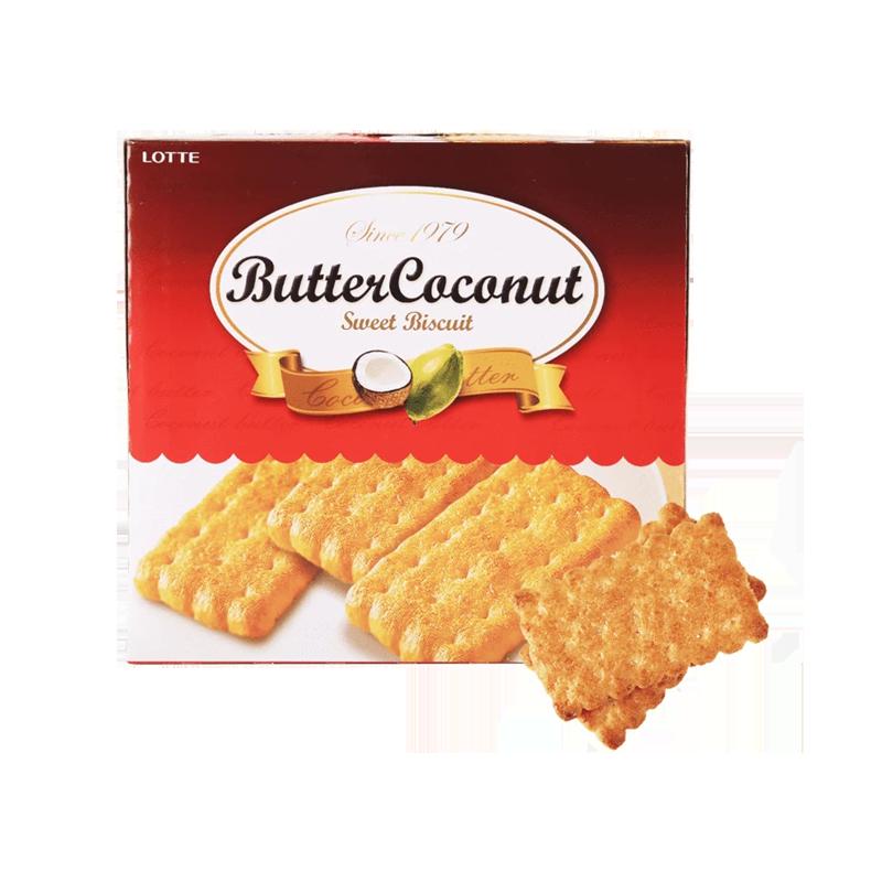 LOTTE乐天 奶油椰子饼干 300g