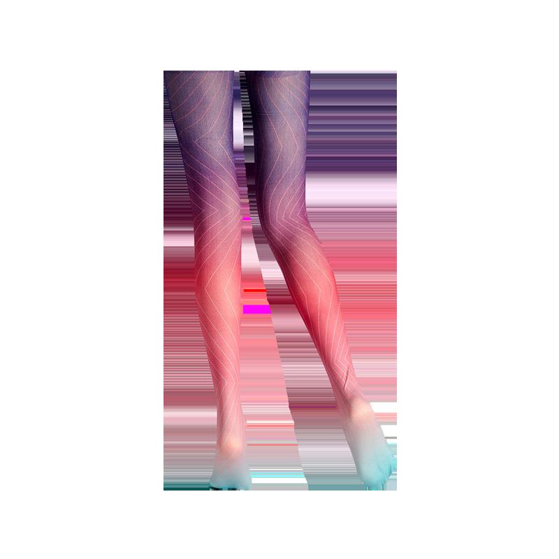 创意图案丝袜连裤袜 viken plan 原创设计师品牌 VP 弦音