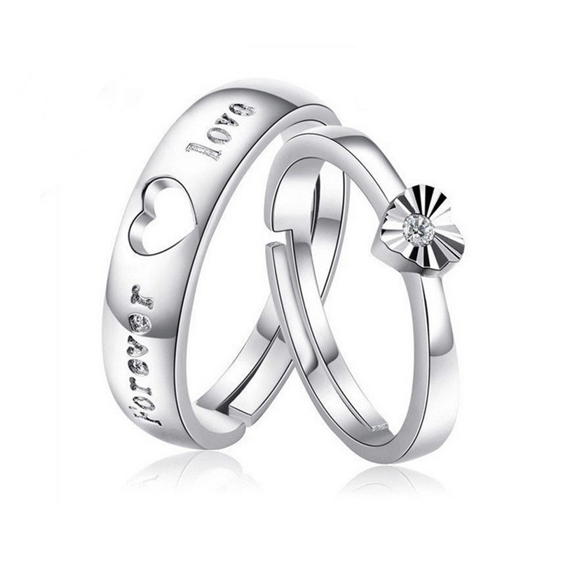KADER S925 sterling silver couple ring Tanabata gift heart ring