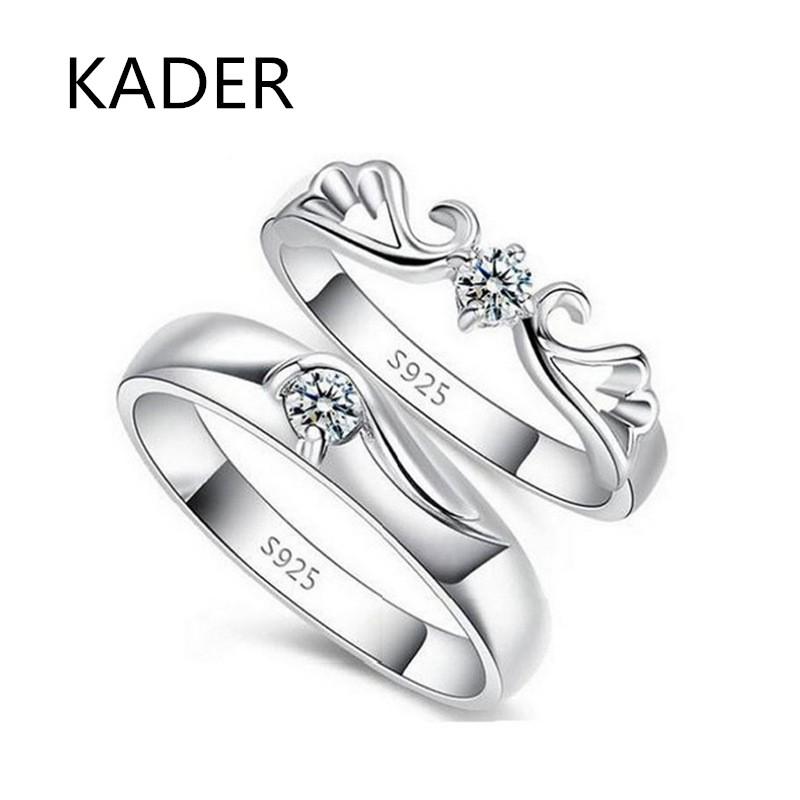 卡蒂罗 s925纯银欧美饰品 热销活口情侣戒指情人节礼物天使指环