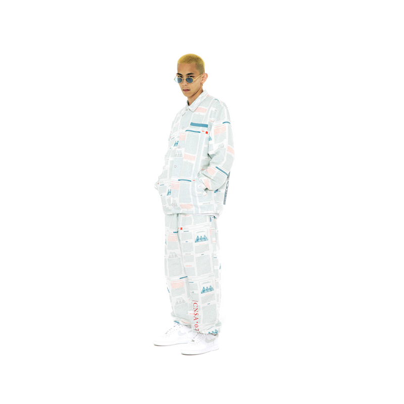 eh 国潮 FEAR太空系列 主题满版印花抽绳休闲裤
