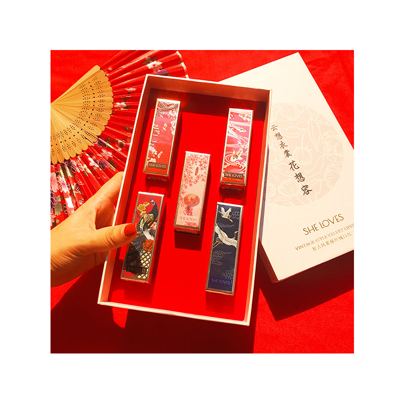 故宫磁扣口红套装独角兽女学生款陈情令中国风唇釉膏礼盒国货彩妆