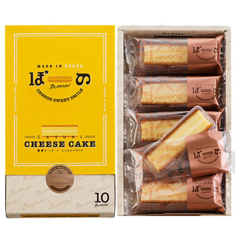 【日本直邮】日本名菓 东京芝士条蛋糕 10枚装