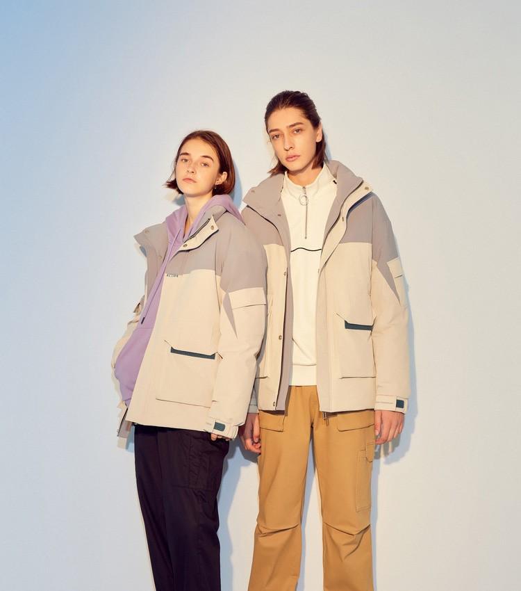 美特斯邦威工装羽绒服男士新款冬季韩版潮流保暖情侣装外套女