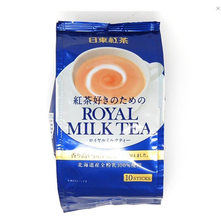 【日本直邮】日本日东红茶ROYAL皇家奶茶北海道经典条装速溶原味奶茶10条