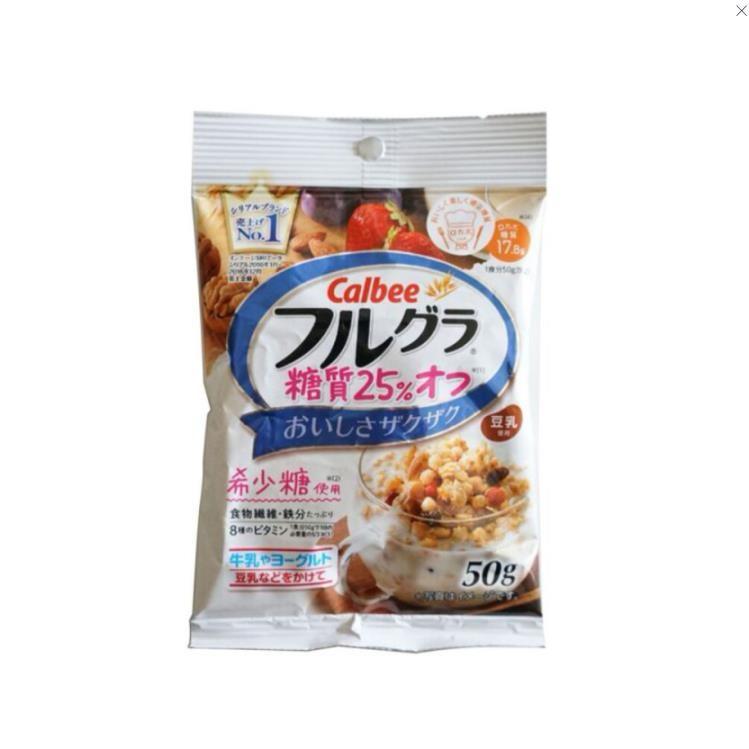 【日本直邮】卡乐B水果谷物营养麦片 糖脂减少25% 50g装