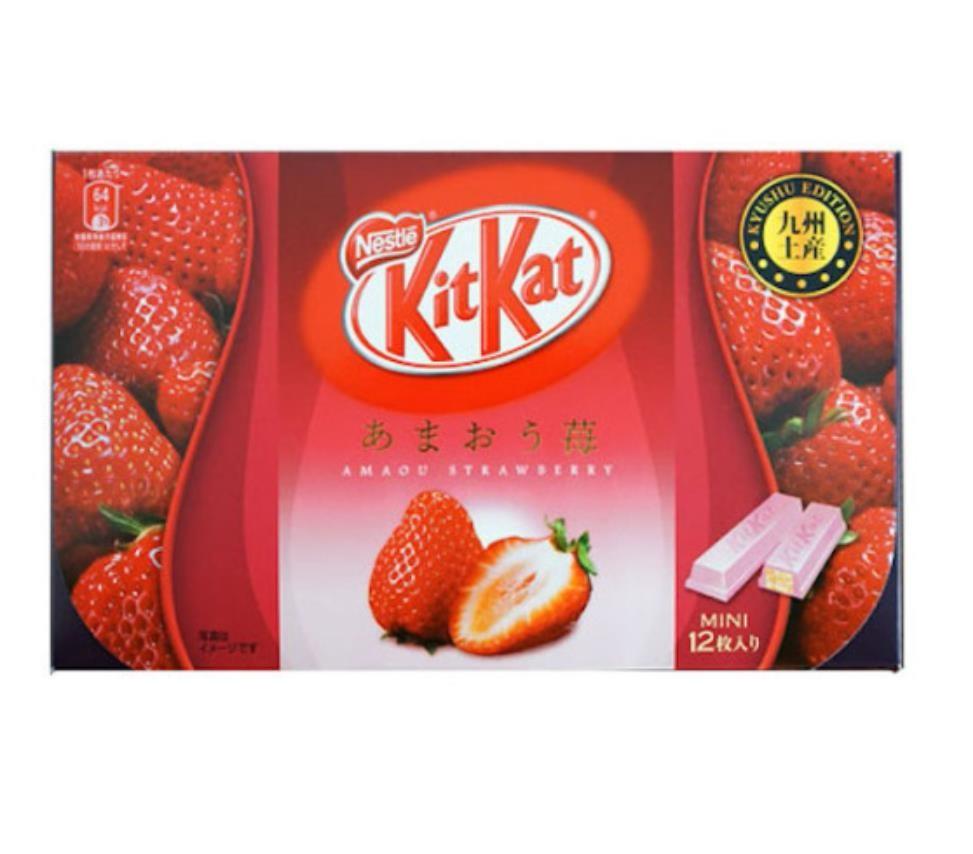 【日本直邮】日本名菓 KIT KAT地域限定系列 九州草莓风味巧克力威化 12枚装