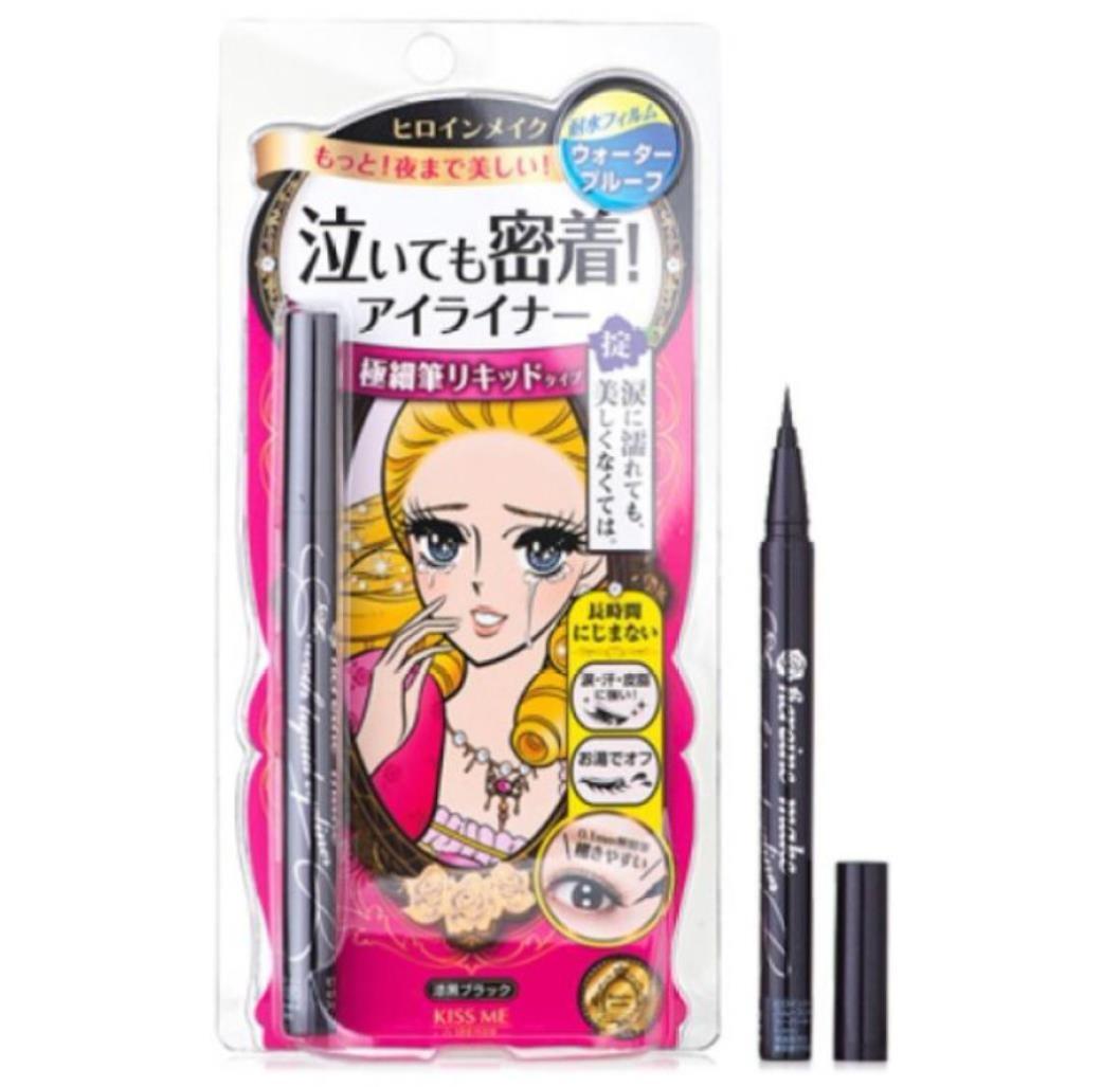 【日本直邮】日本 ISEHAN KISS ME 梦幻泪眼不晕染眼线液笔 #黑色 0.4ml范冰冰同款