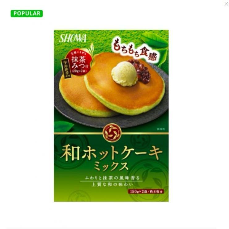 【日本直邮】日本昭和食品 宇治抹茶松饼粉 340g