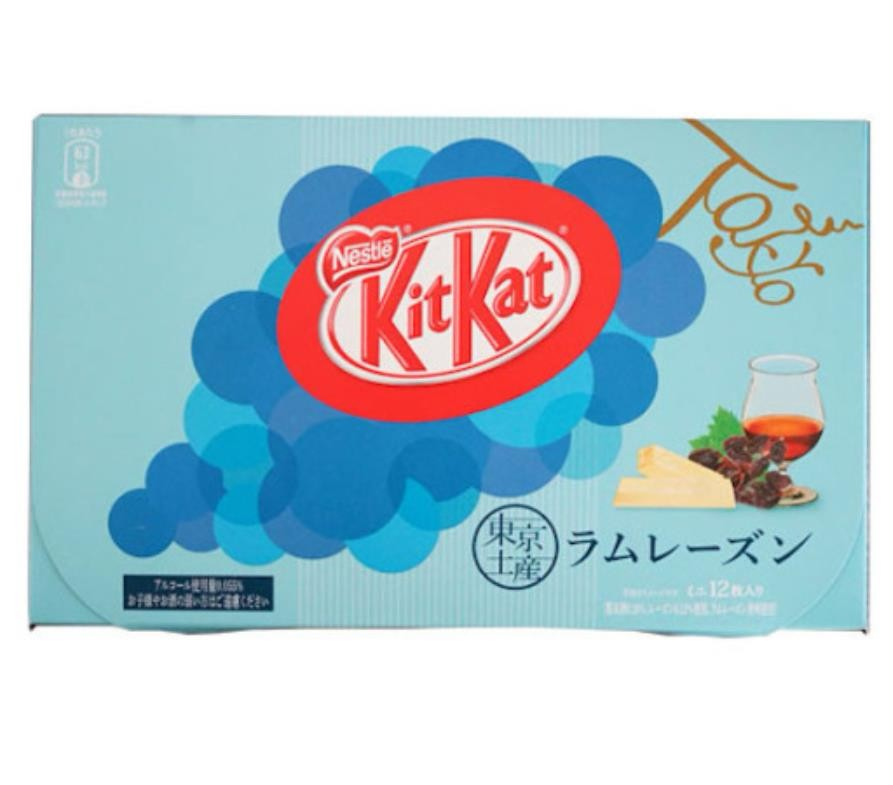【日本直邮】日本名菓 KIT KAT地域限定系列 东京朗姆葡萄干风味巧克力威化 12枚装