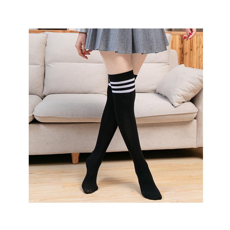 浪莎长筒袜女袜子过膝高筒韩版黑色小腿袜日系半截中筒袜ins潮版