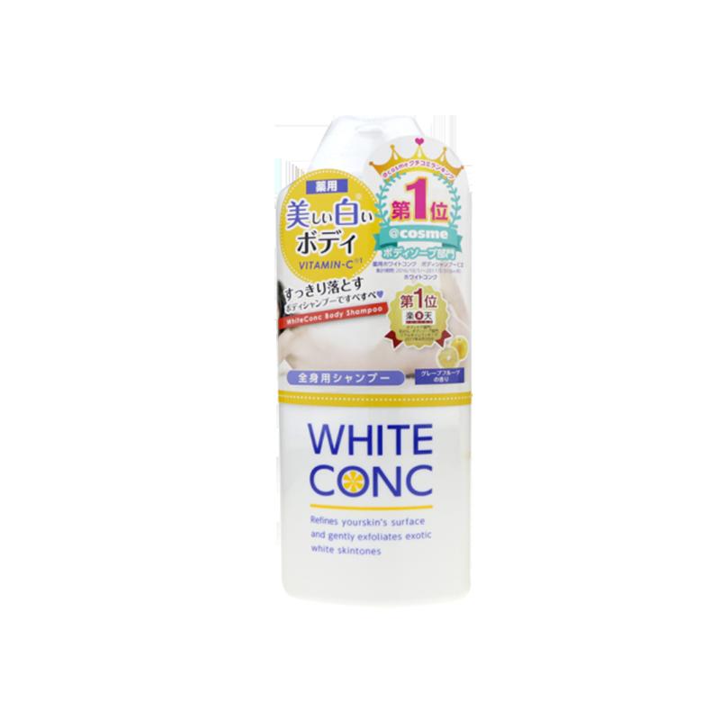 日本WHITE CONC保湿沐浴露VC美白沐浴乳女脸部身体