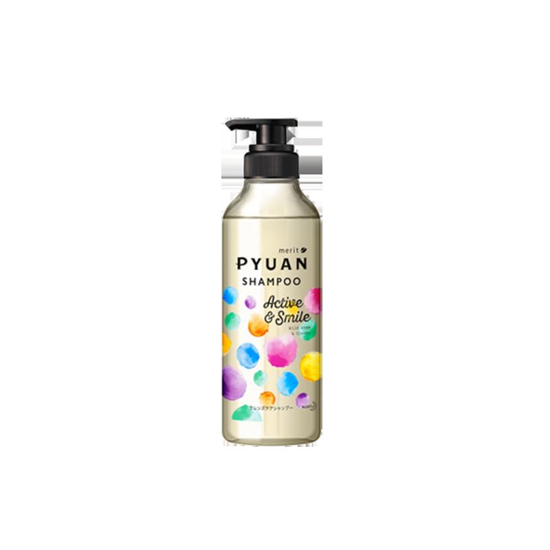 日本花王KAO Merit Pyuan弱酸性无硅香水洗发水清爽 护发素套装