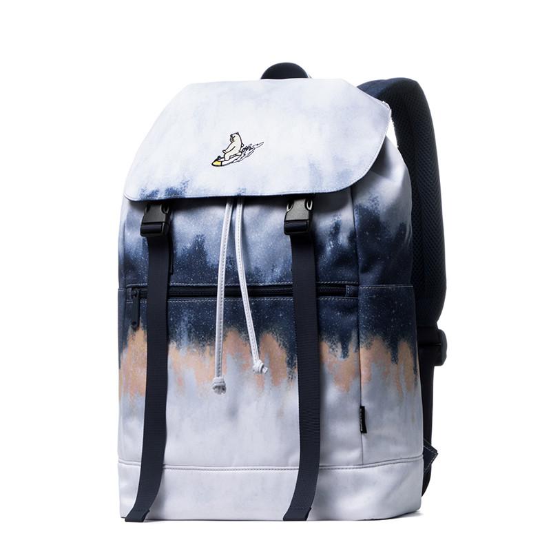 mracehomme新款大容量双肩包女15寸电脑背包男韩版时尚学生书包