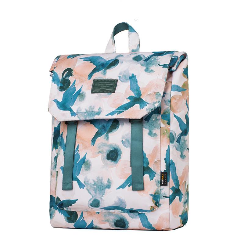 韩版大容量背包15寸电脑包时尚学生校园书包复古简约双肩包潮男包