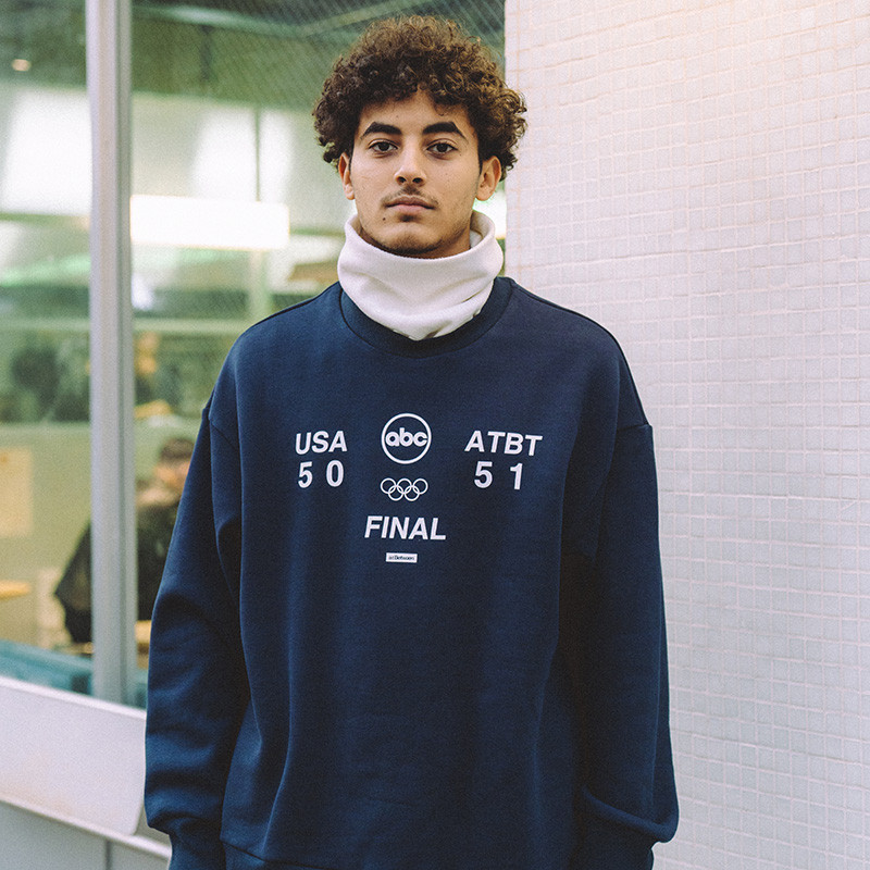 A.t Between Dreamgame Crewneck round collar loose leisure fleece ins tidal autumn and winter