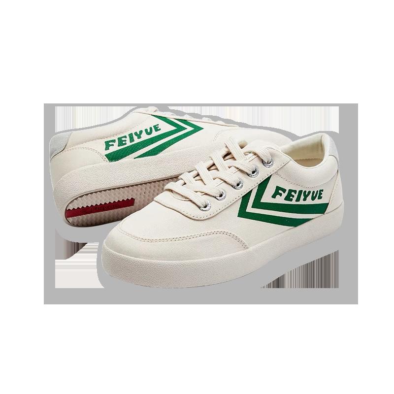 【满$99减$30】飞跃 经典款复古帆布鞋 女新款米色低帮 运动休闲鞋子
