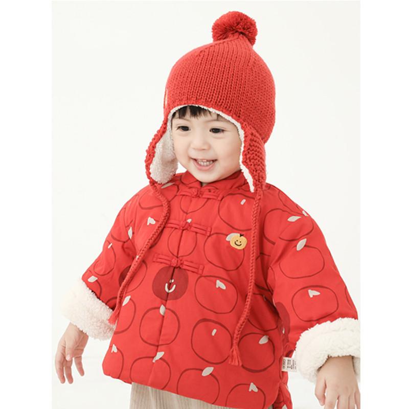 papa爬爬秋冬男女宝宝保暖棉袄婴儿小童中国风新年棉服0-5岁