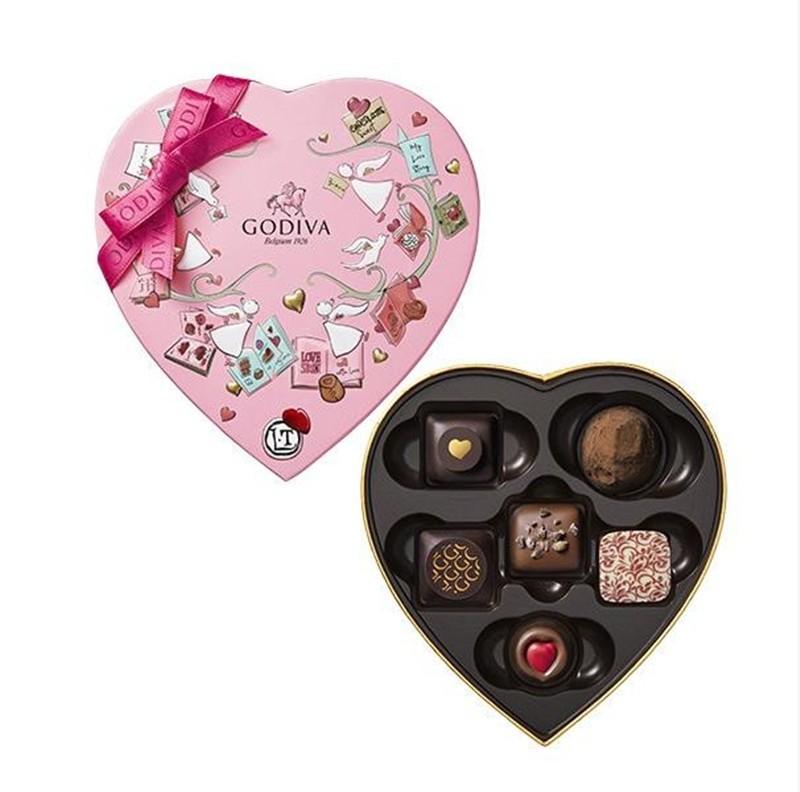 【日本直邮】比利时GODIVA巧克力 2020年情人节限定 心形糖果礼盒 6枚装