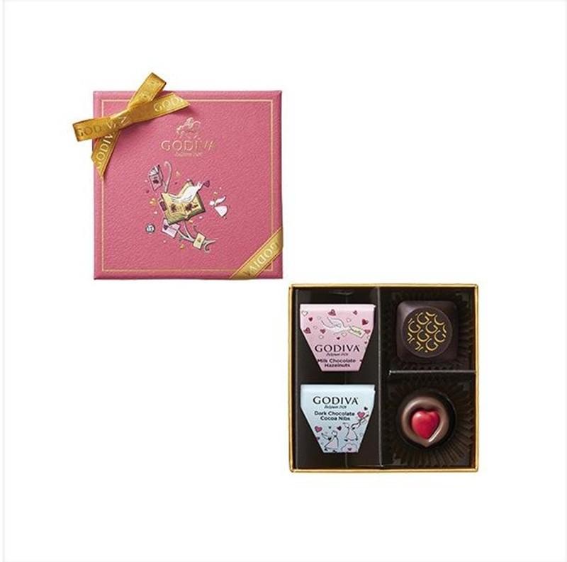 【日本直邮】比利时GODIVA巧克力 2020情人节限定 编年史组合礼盒 4枚装