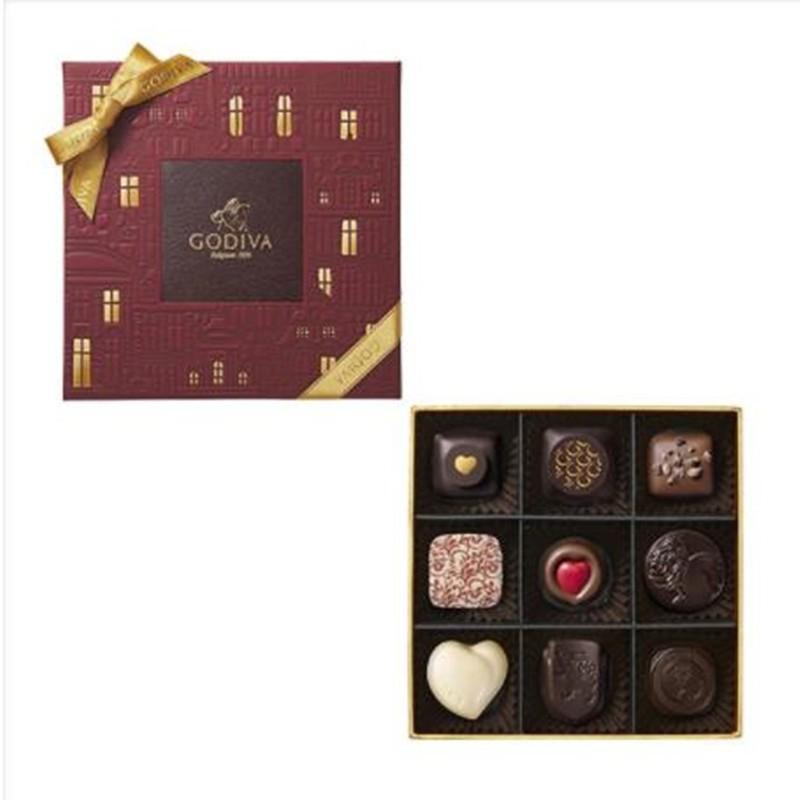 【日本直邮】比利时GODIVA巧克力 2020情人节限定 巧克力编年史系列 9粒装