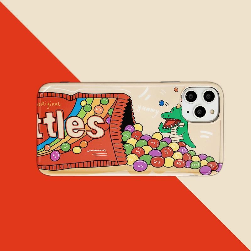 【包邮】彩虹豆豆泡泡龙插画软壳手机保护壳iphone手机壳