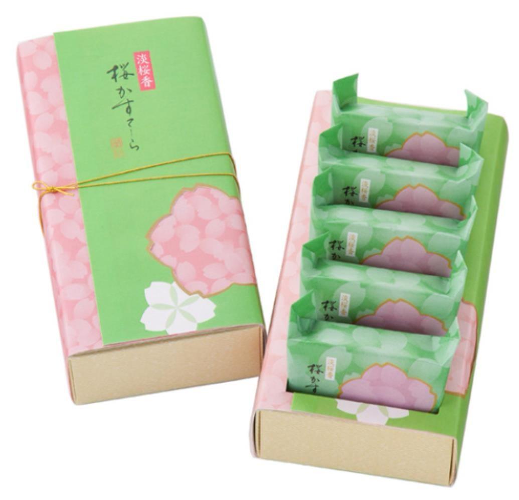 【日本直邮】日本名菓 日本桥屋长兵衛 限定樱花蛋糕 5枚装