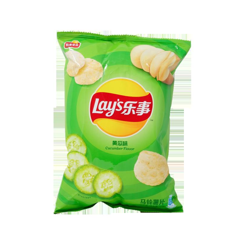 LAY'S 乐事薯片 黄瓜味 70g 袋装