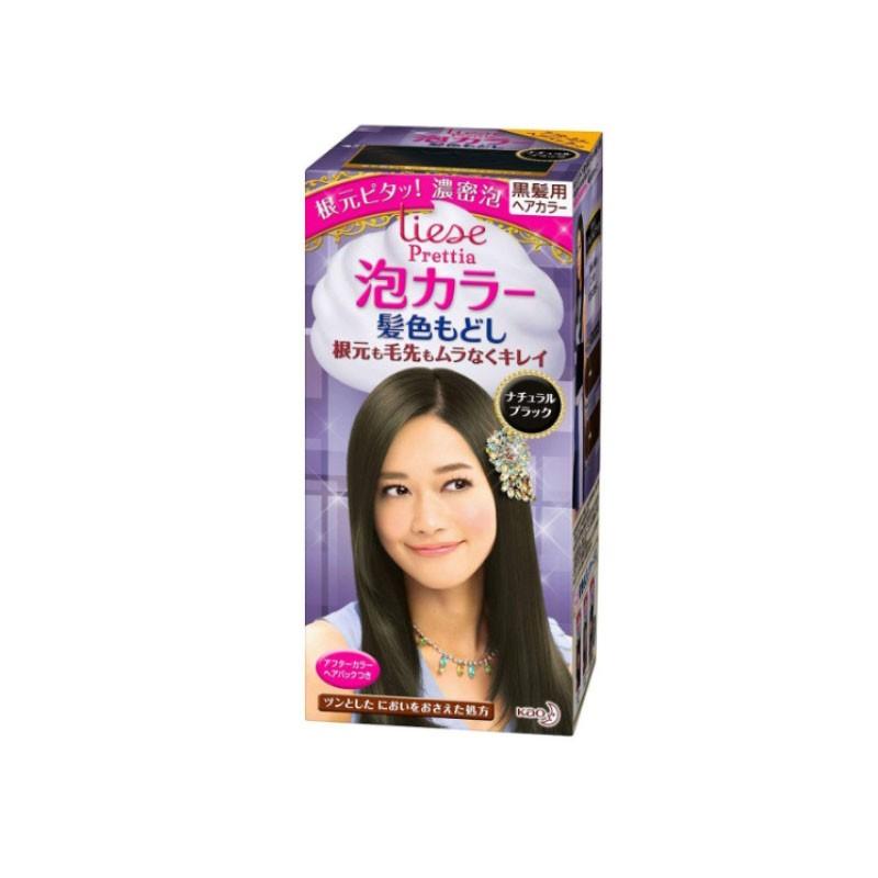 【日本直邮】日本KAO花王 LIESE PRETTIA 泡沫染发剂 #还原自然黑色 单组入 ※2019新包装