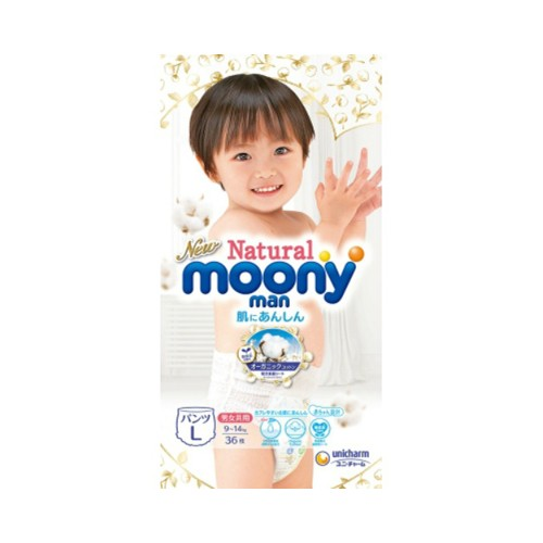 Unicharm Moony Natural Moony 尤妮佳 裤型婴儿纸尿裤(L号)36片