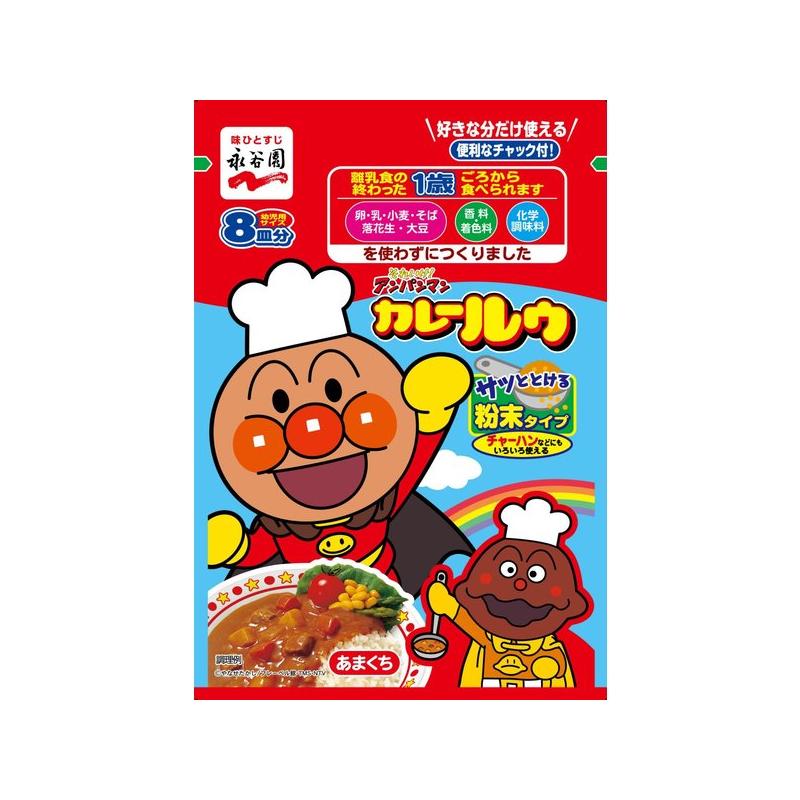 日本永谷园 面包超人咖喱酱 8皿分 68g