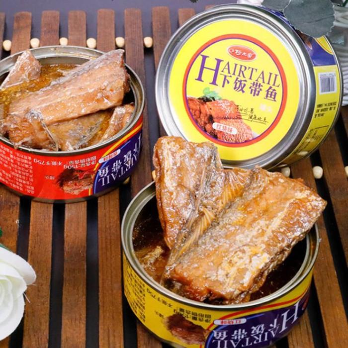 阿尔帝下饭带鱼罐头150g,红烧刀鱼