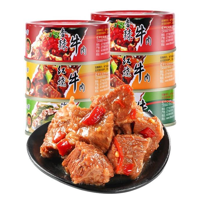 阿尔帝 即食澳洲牛肉罐头100g 香辣/海带/红烧