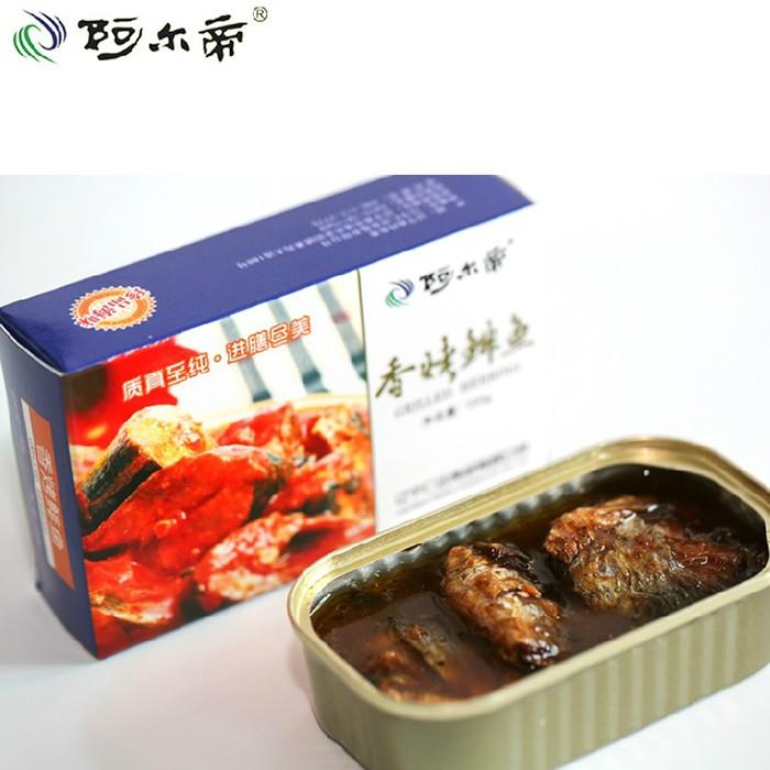 阿尔帝 香烤鲱鱼罐头100g 五香青鱼