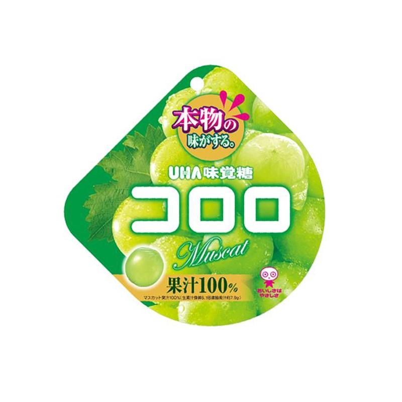 日本UHA悠哈 味觉糖 纯正100%青葡萄口感果汁软糖