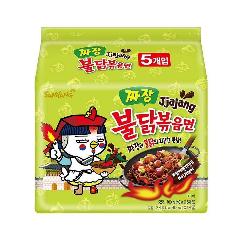 韩国SAMYANG三养 超辣鸡肉味炸酱拌面 140g*5